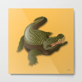 Crocodile - 'A Fantastic Journey' Metal Print