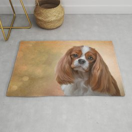 Drawing Dog breed Cavalier King Charles Spaniel Rug