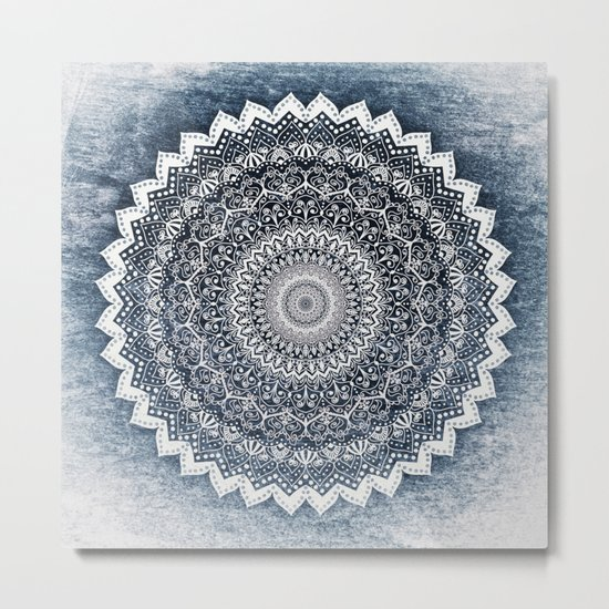 COLD WINTER MANDALA Metal Print