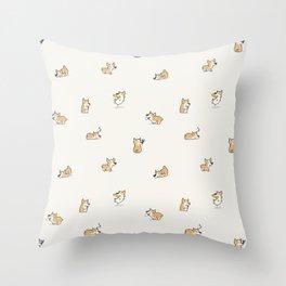 Corgi Collective Throw Pillow
