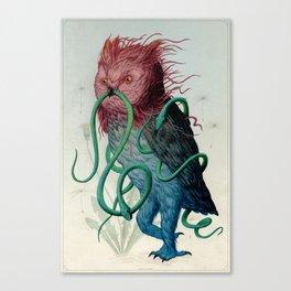 Scarlett Clock Wine Canvas Print