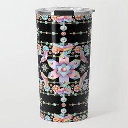 Folkloric Snowflakes Travel Mug