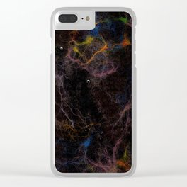 Abstract Nebula K2 Clear iPhone Case