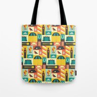 mary poppins Tote Bags featuring Mary Poppins by Ariel Wilson