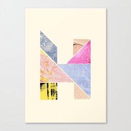 Collaged Tangram Alphabet - H Canvas Print
