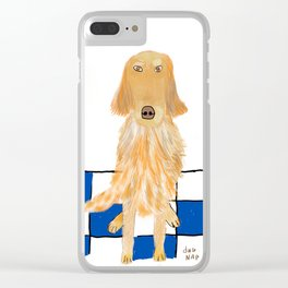 Golden Retriever Wants A Walk Clear iPhone Case