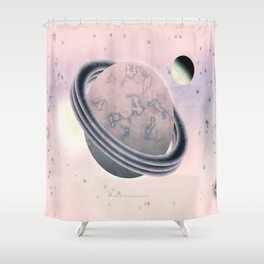 RED SPACE - 010 Shower Curtain