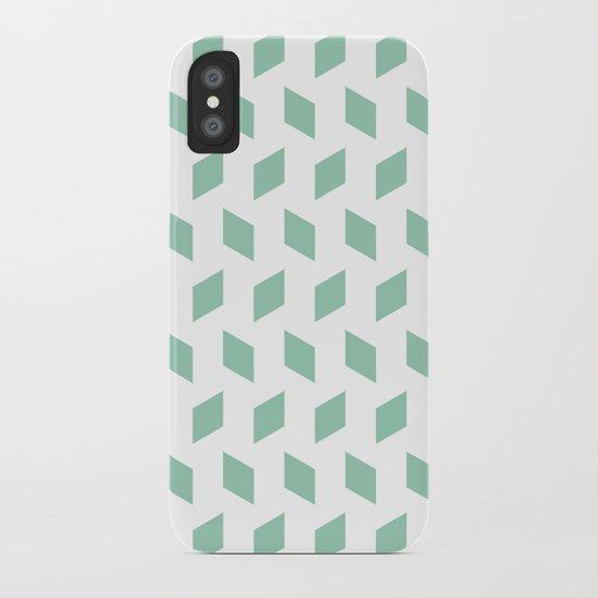 rhombus bomb in grayed jade iPhone Case
