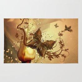 Wonderful fantasy butterflies Rug