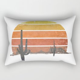Runnin' Into The Sun Rectangular Pillow
