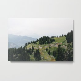 Photo of the railway station Schynige Platte, Suisse | Colorful travel photography | Metal Print