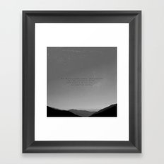 We will climb these mountains Framed Art Print