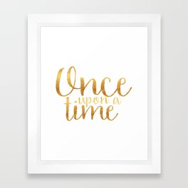 Once Upon a Time - Gold Framed Art Print