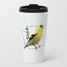 Washington – American Goldfinch [Fly Home: State Bird Collection] Travel Mug