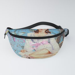 Paris - mon amour - Fashion Girl In France Eiffel tower Nostalgy - French Vintage Fanny Pack