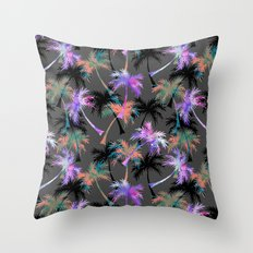 Falling Palms Throw Pillow