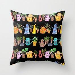 Green Little Fingers Throw Pillow