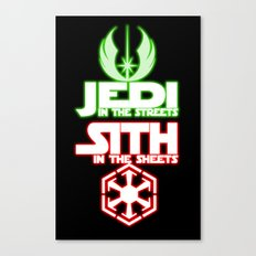 Jedi In The Streets Canvas Print