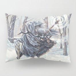Wizard Riding an Elk in the Snow Pillow Sham
