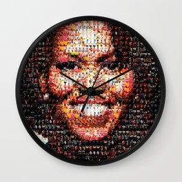 BEHIND THE FACE Michelle Obama | fat women Wall Clock