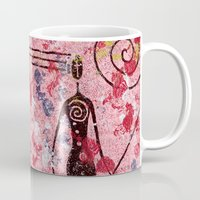 sisters Mugs featuring sisters by e9Art
