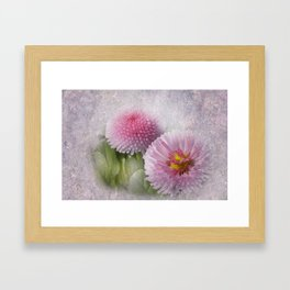 take time to look at flowers -100- Framed Art Print