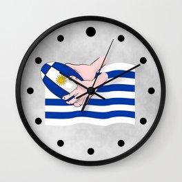 Uruguay Rugby Flag Wall Clock