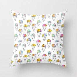 Sno-Cone Summer! Throw Pillow