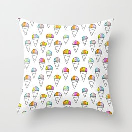 Sno-Cone Summer! Throw Pillow