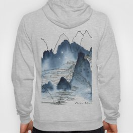 Love of mountains landscape format Hoody