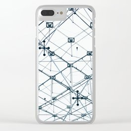 Underneath the Louvre Pyramid Clear iPhone Case