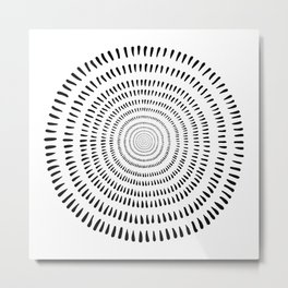 Fjorn on white Metal Print