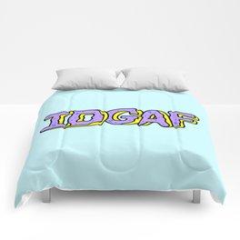 IDGAF Violet Donuts Comforters