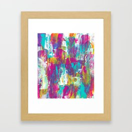 aquamarine // abstract painting Framed Art Print