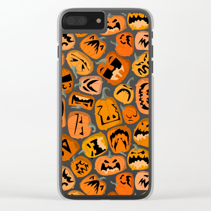 Pumpkin Brawl. Clear iPhone Case