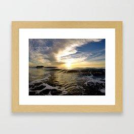 Dynamic Sunset - Encinitas, CA Framed Art Print
