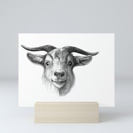 Curious Goat G124 Mini Art Print