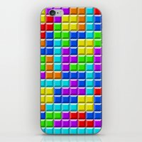 tetris iPhone & iPod Skins featuring Tetris by Rebekhaart