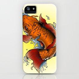 Orange Koi fish tattoo  iPhone Case