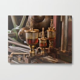 Steam engine oilers - landscape Metal Print