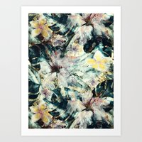 hibiscus Art Prints featuring Hibiscus by RIZA PEKER