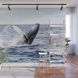 Humpback Whale Ocean Wall Mural