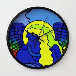 GALGALIEL the blue angel of vibrations Wall Clock