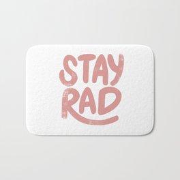 Stay Rad Vintage Pink Bath Mat