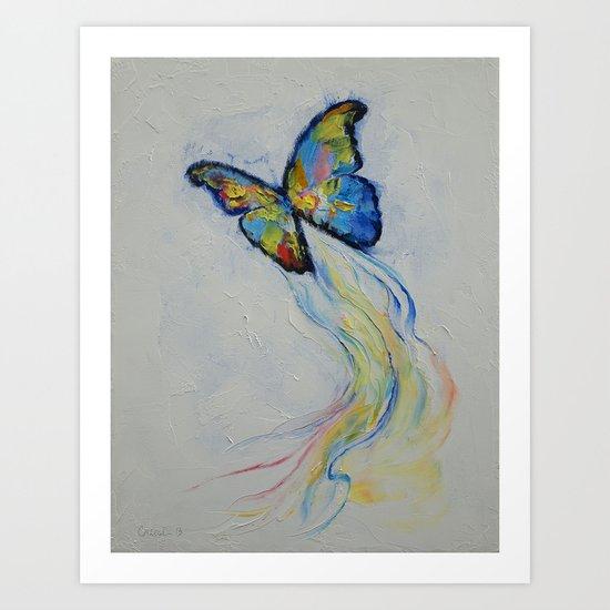 Opal Butterfly Art Print