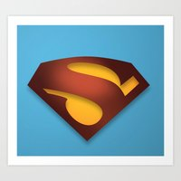 shield Art Prints featuring shield by hobbs