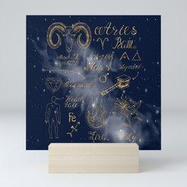 Symbol of Aries Illustration Mini Art Print