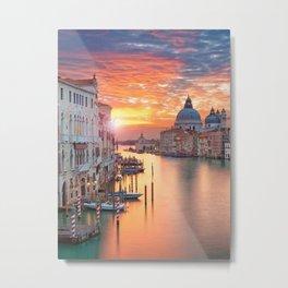 Sunset in Venice Metal Print