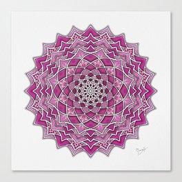 12-Fold Mandala Flower in Pink Canvas Print