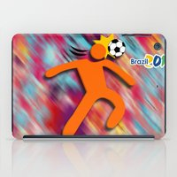 soccer iPad Cases featuring Soccer Head by WIGEGA